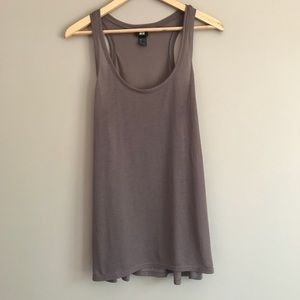 H&M Sheer Flowy Taupe Tank Top